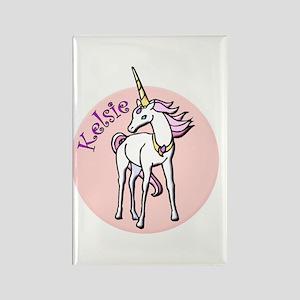 Kelsie Unicorn Rectangle Magnet