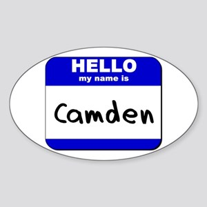 hello my name is camden Oval Sticker