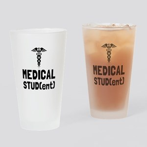Medical Student Drinking Glass