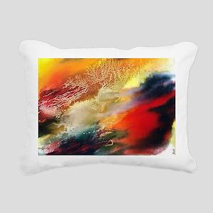 Abstract Oriental Art Rectangular Canvas Pillow