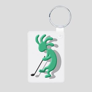 Golf Aluminum Photo Keychain