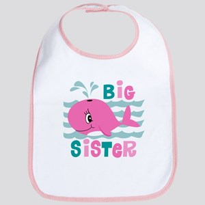 Whale Big Sister Bib