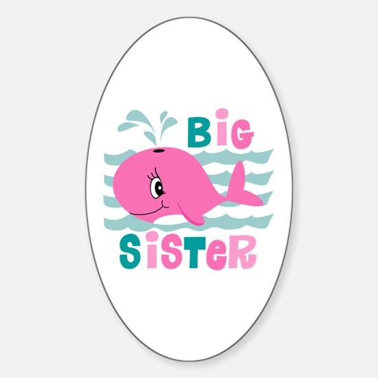 Whale Big Sister Sticker (Oval)
