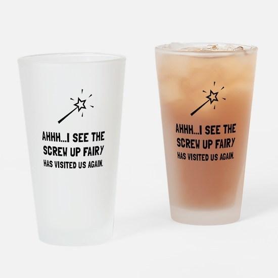 Screw Up Fairy Drinking Glass