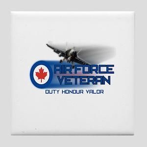 Canadian Air Force Veteran Tile Coaster