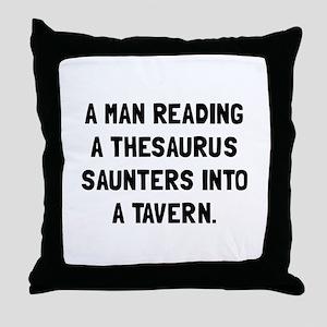Thesaurus Saunters Throw Pillow