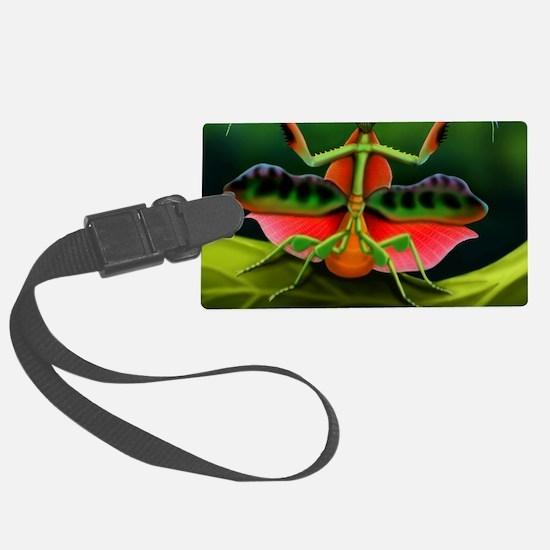 Tropical Praying Mantis on Leaf Luggage Tag