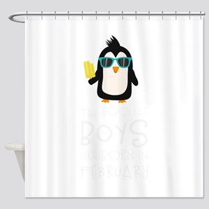 Coolest Boys Birthday in FEBRUARY Shower Curtain