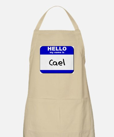 hello my name is cael  BBQ Apron