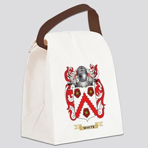 White Family Crest (Coat of Arms) Canvas Lunch Bag