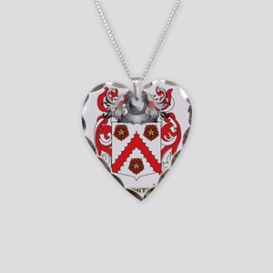 White Family Crest (Coat of A Necklace Heart Charm