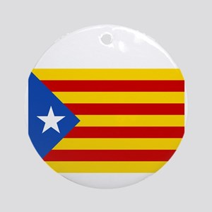 Catalan Independence (F and B) Round Ornament