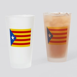 Catalan Independence (F and B) Drinking Glass