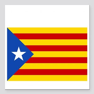 "Catalan Independence Square Car Magnet 3"" x 3"""