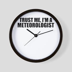 Trust Me, I'm A Meteorologist Wall Clock