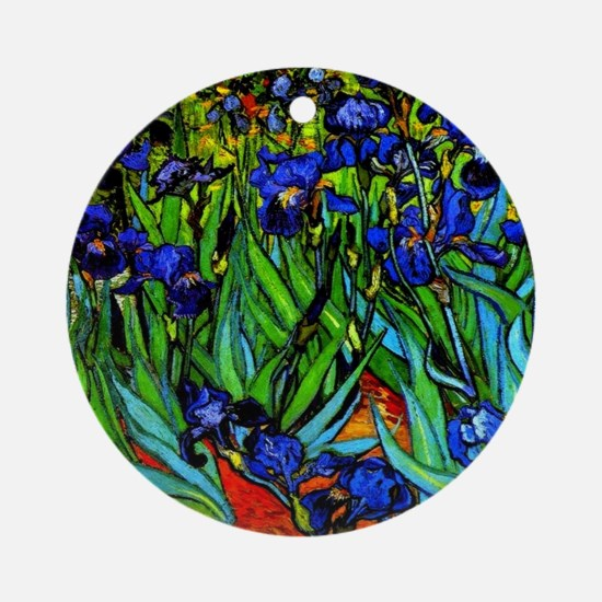Van Gogh - Irises Round Ornament