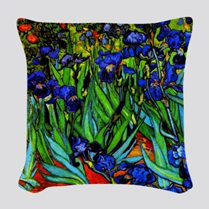 Van Gogh - Irises Woven Throw Pillow
