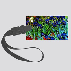 Van Gogh - Irises Large Luggage Tag