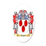 Eagar Oval Car Magnet