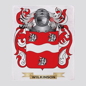 Wilkinson 2 Family Crest (Coat of Ar Throw Blanket