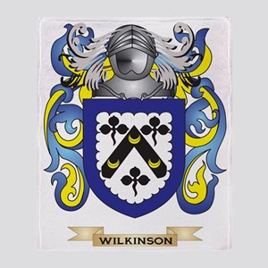 Wilkinson Family Crest (Coat of Arms Throw Blanket