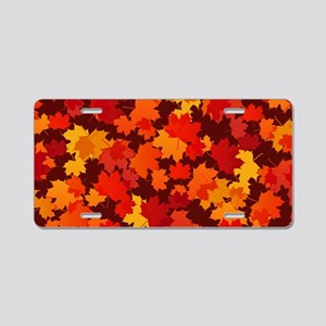 Autumn Leaves Aluminum License Plate