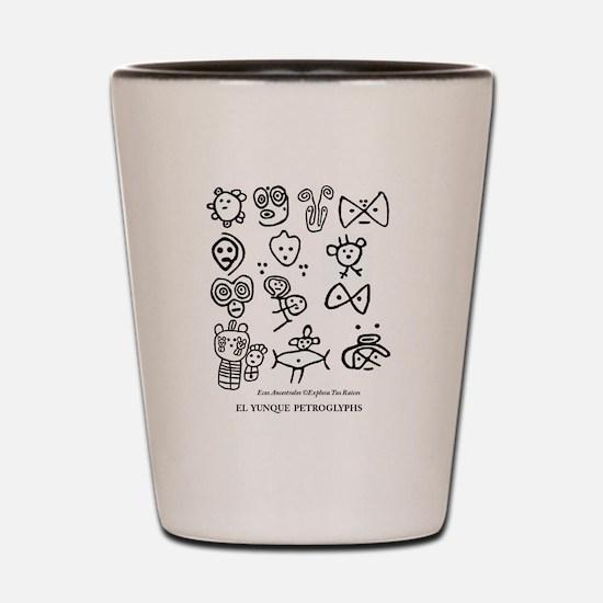 Taino Petroglifos del Yunque Shot Glass