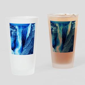 gigantic waterfall blue ice Drinking Glass