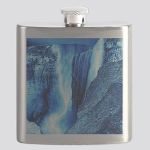 gigantic waterfall blue ice Flask