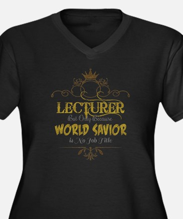 Cute Lecturer Women's Plus Size V-Neck Dark T-Shirt