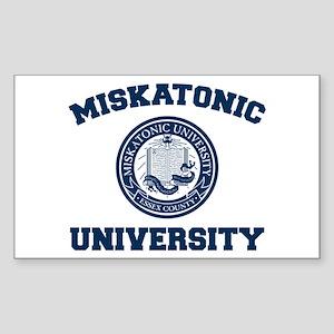 Miskatonic University Rectangle Sticker