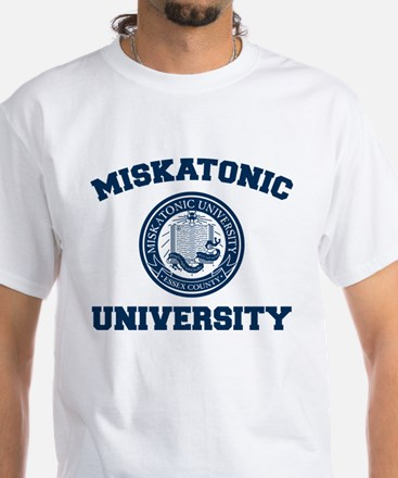 Miskatonic University White T-Shirt