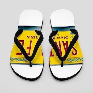 newmexico_licenseplate_santafe Flip Flops