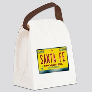 newmexico_licenseplate_santafe.pn Canvas Lunch Bag