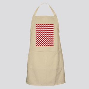 Red and White Chevron Pattern Apron