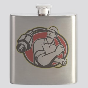 Cable TV Installer Guy Flask