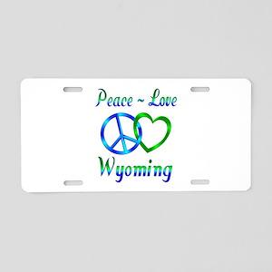 Peace Love Wyoming Aluminum License Plate