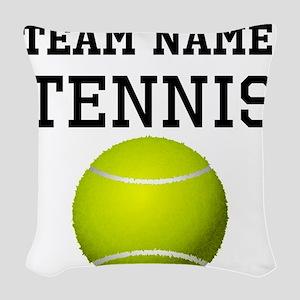 (Team Name) Tennis Woven Throw Pillow