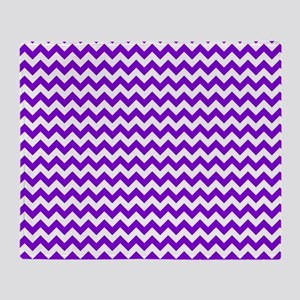 Purple and White Chevron Pattern Throw Blanket
