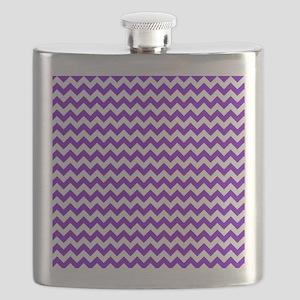 Purple and White Chevron Pattern Flask