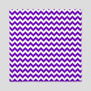 Purple and White Chevron Pattern Queen Duvet