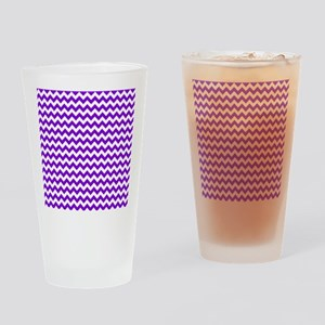 Purple and White Chevron Pattern Drinking Glass