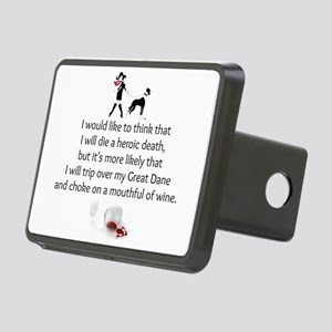 Wine Quote Rectangular Hitch Cover