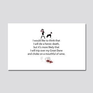 Wine Quote Car Magnet 20 x 12