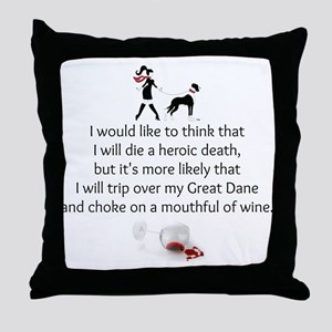 Wine Quote Throw Pillow