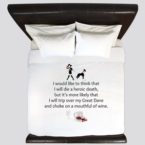 Wine Quote King Duvet