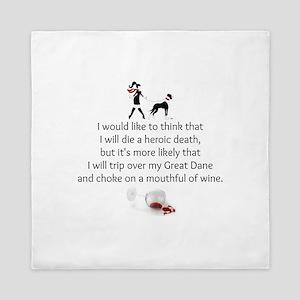 Wine Quote Queen Duvet
