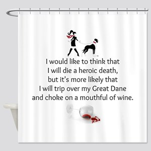 Wine Quote Shower Curtain