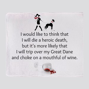 Wine Quote Throw Blanket