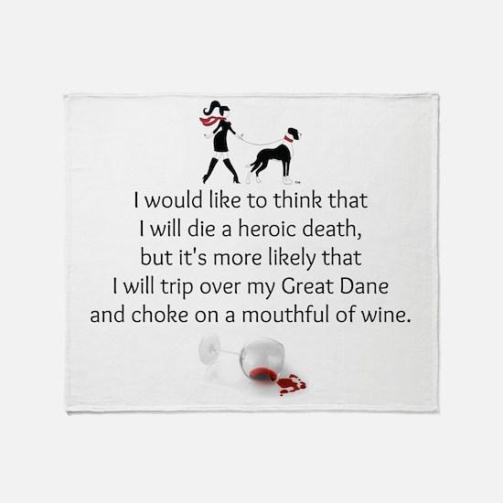 Wine Quote Throw Blanket